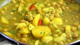 Curry Channa And Aloo (chickpeas With Potato) Vegetarian & Gluten Free - Chris De La Rosa