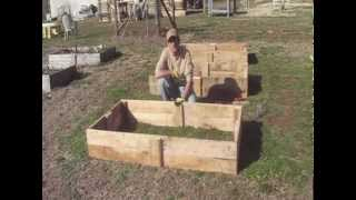 Building Raised Beds From Reclaimed Pallet Wood