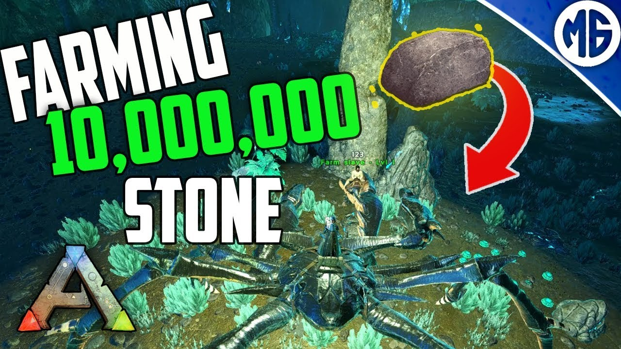 TODAY I FARMED 10,000,000 STONE SOLO 🙃 3 Man PvP Servers - Ark: Survival  Evolved