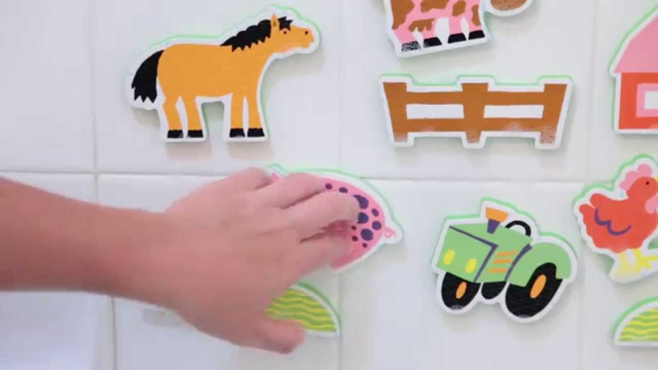 ALEX Toys Stickers For The Tub Farm - YouTube