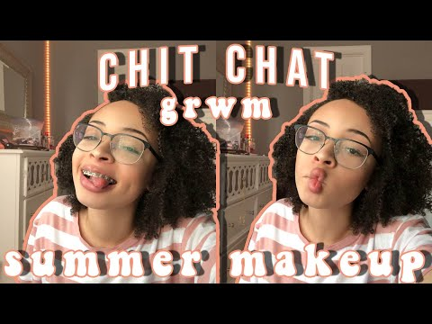 Chit Chat GRWM: gEt tO KnOw Me (my everyday summer makeup routine) | aliyah simone thumbnail