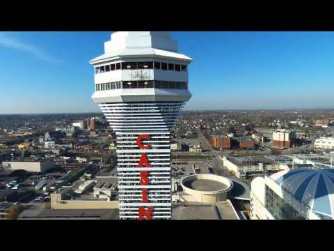 Skylon Niagara Falls Casino Secret Garden Imax Theater  drone video