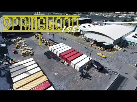 Cities Skylines: Springwood - Dock, Fish Market, Marina (Ep1)