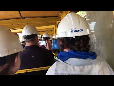 Britannia Mine Guided Tour : Part  1 Mine Train Ride.
