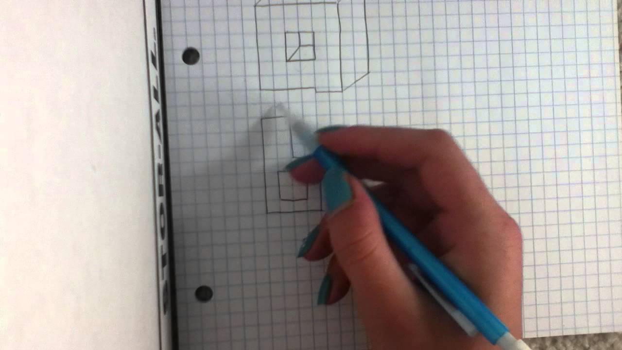 how to draw d letters on graph paper
