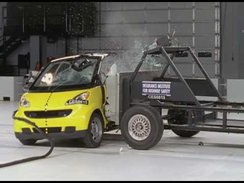first institute crash tests of smart car youtube. Black Bedroom Furniture Sets. Home Design Ideas