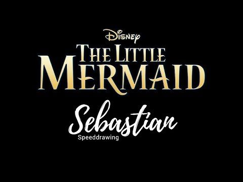 Disney speeddrawing  - The little mermaid  - Sebastian