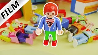 Playmobil Film Deutsch - LEBENSMITTELVERGIFTUNG IN DER KITA! JULIAN LEITET 1 TAG KITA! Familie Vogel