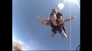 Jana skydiving in Lodi,California.Yep, she did it...