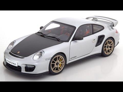 gt2 RS 2010 SILVER//BLACK 1:18 Autoart Porsche 911 997