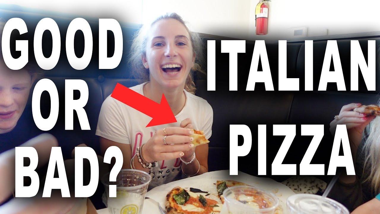Download Italian Exchange student tries Italian Pizza in America