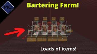 Minecraft Bedrock: Piglin Bartering Farm Tutorial