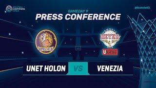 UNET Holon v Umana Reyer Venezia - Press Conference - Basketball Champions League 2018-19