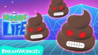 EVIL POOP EMOJIS + Emoji Madness Times A Million | YOUR COMMENTS COME TO LIFE!