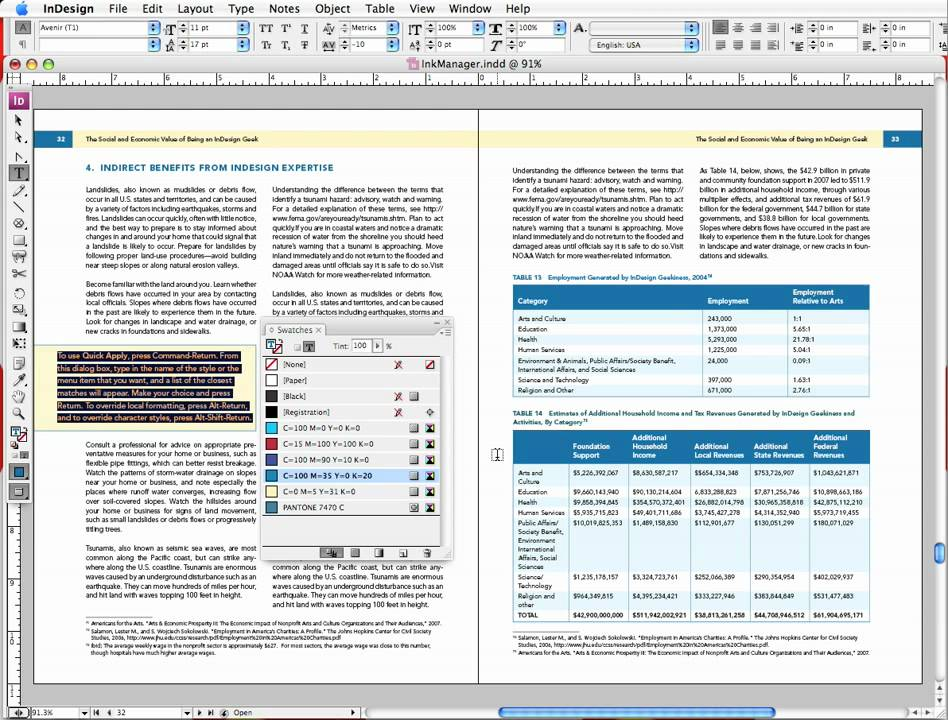 InDesign Converting Spot Colors To Process