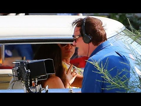 Quentin Tarantino Directs Brad Pitt And Margret Qualley On S