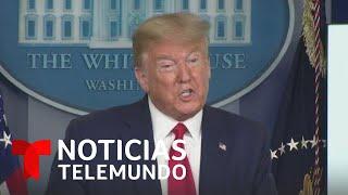 Trump asegura que se vienen semanas muy dolorosas y agradece a la prensa | Noticias Telemundo