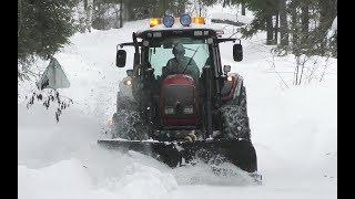 Valtra N121 Snowclearing Sweden 4K
