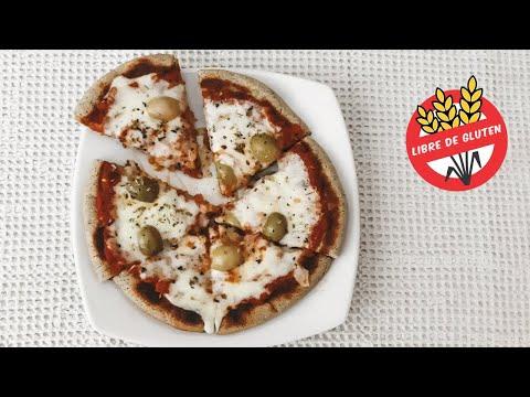 CROCANTE PIZZA sin gluten y SIN HORNO | Pizza de SARTÉN FÁCIL