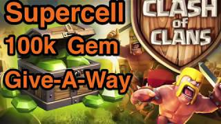 Clash of Clans; Gem Give-A-Way; Free Gems; Gem giveaway; YouTube Content Creator War