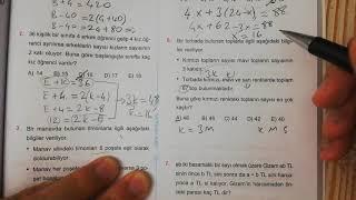 Problemler Test 2 Esen TYT Matematik Mavi Seri Açıklamalı Çözümleri