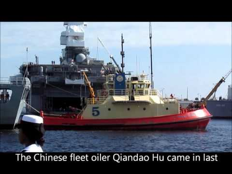 The Chinese Navy made its first East Coast naval port visit - to Naval Station Mayport
