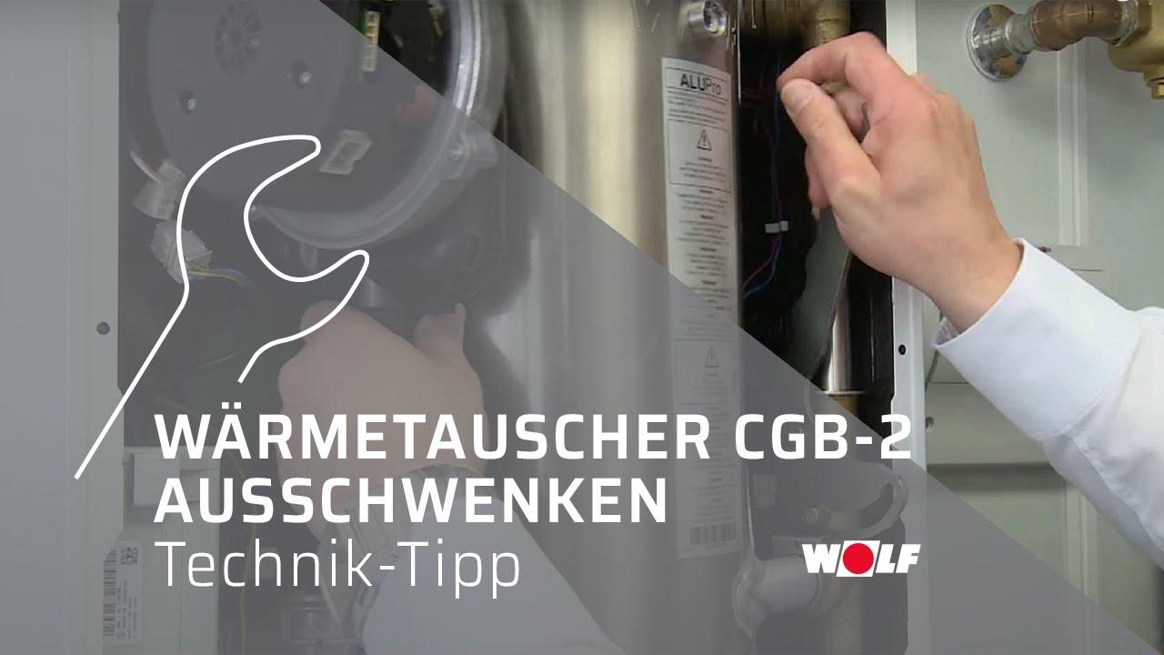 WOLF Technik-Tipp 1: Ausschwenken Wärmetauscher CGB-2 - YouTube
