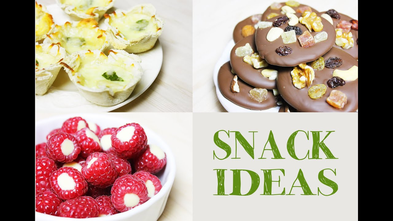 Late night SNACK IDEAS | Easy and fast to make - YouTube