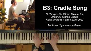 B:3 Cradle Song (ABRSM Grade 7 piano 2021-2022)