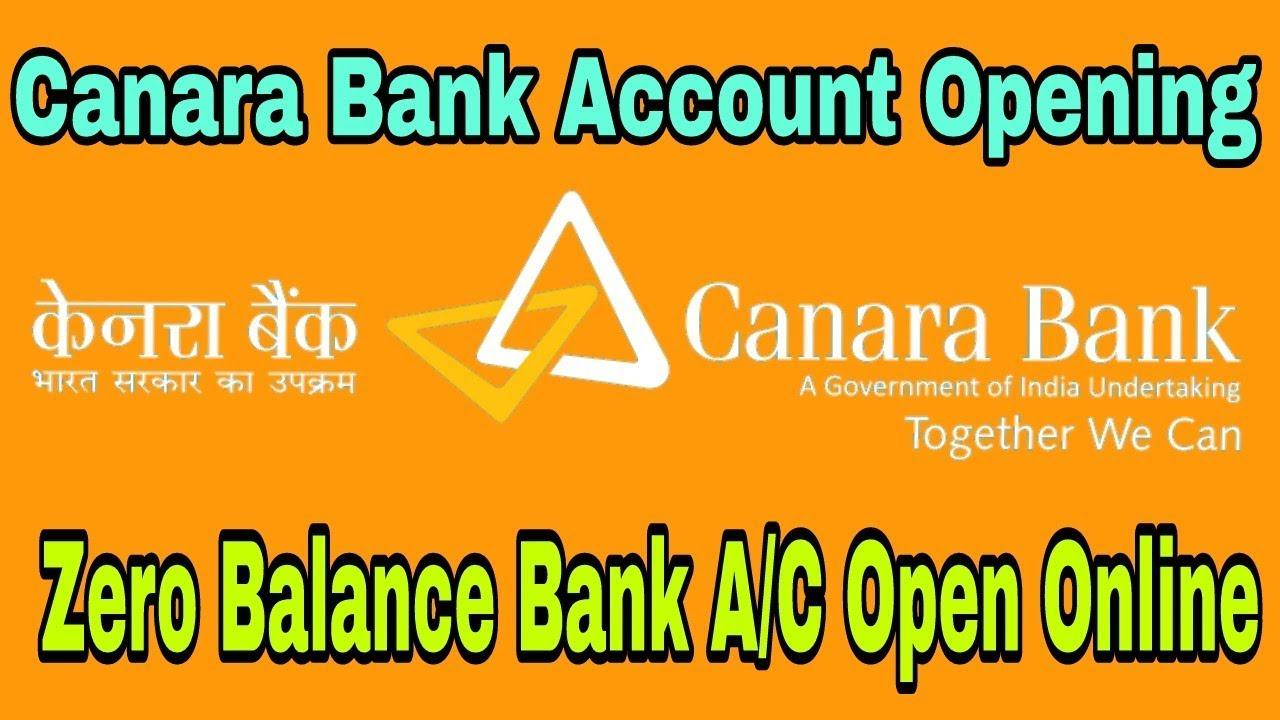 How to Open Canara Bank Zero Balance Account .Canara Bank Account Opening Online