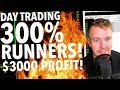 Day Trading LIVE! $3,000 PROFIT ON INSANE STOCK!