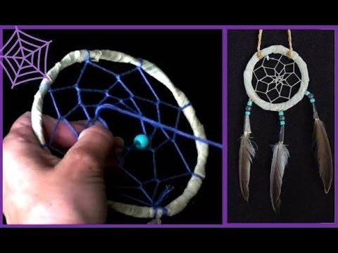 Как сделать дримкэтчер (ловушка для снов) индейский амулет Dreamcatcher (Indian amulet)