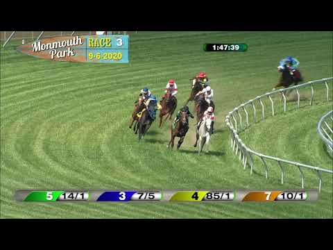 video thumbnail for MONMOUTH PARK 09-06-20 RACE 3
