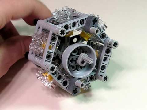 Lego 6 Cylinder Radial Engine - YouTube