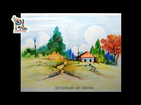 how-to-coloring-a-scenery-art-with-color-pencils-|-step-by-step-shading