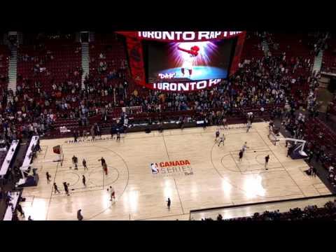Pregame action Toronto Raptors vs.  GOLDEN STATE WARRIORS