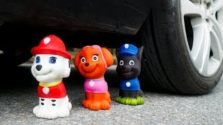 Crushing Crunchy & Soft Things by Car | Experiment Car vs Coca Cola in Balloons and Paw Patrol