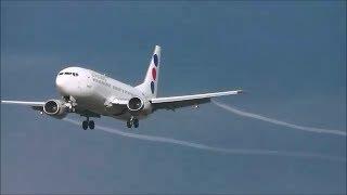 JAT Airways Boeing 737-300 (visible vortex) Landing at ZRH (HD)
