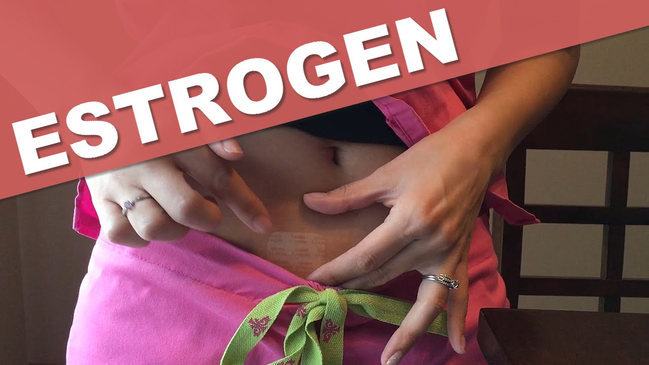 Where to put estrogen patch ivf.