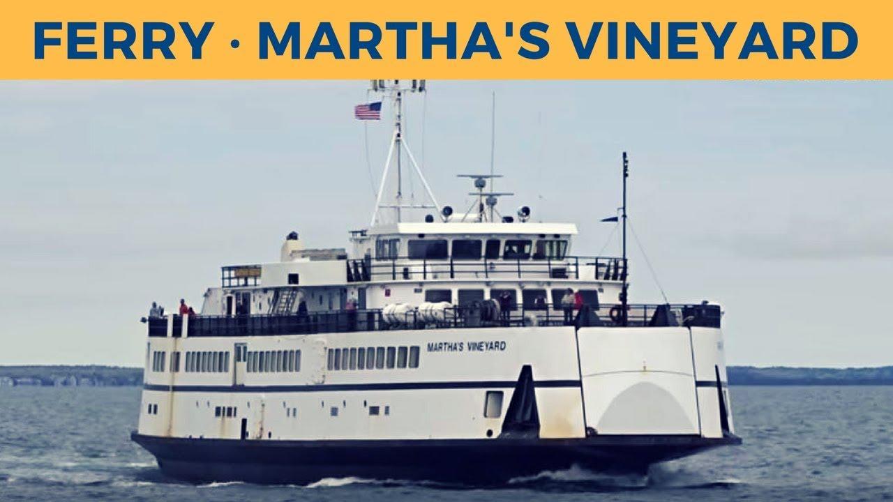 arrival of ferry martha's vineyard in oak bluffs (the steamship