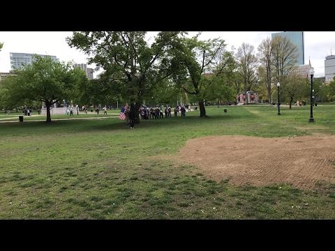 LIVE AT THE BOSTON FREE SPEECH V ANTIFA