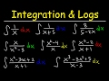 Integration Logarithmic Functions, Natural Logs Integrating By Substitution, Long Division, Calculus