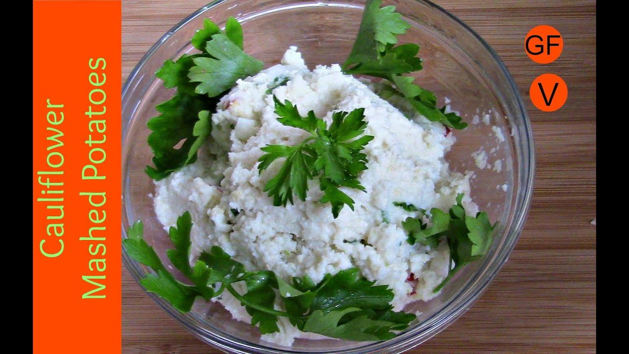 Cauliflower Mashed Potatoes Vegan Gluten Free