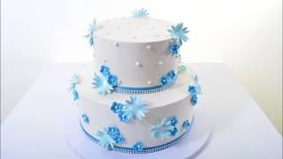 Украшение тортов | Как украсить торт цветами из мастики своими руками