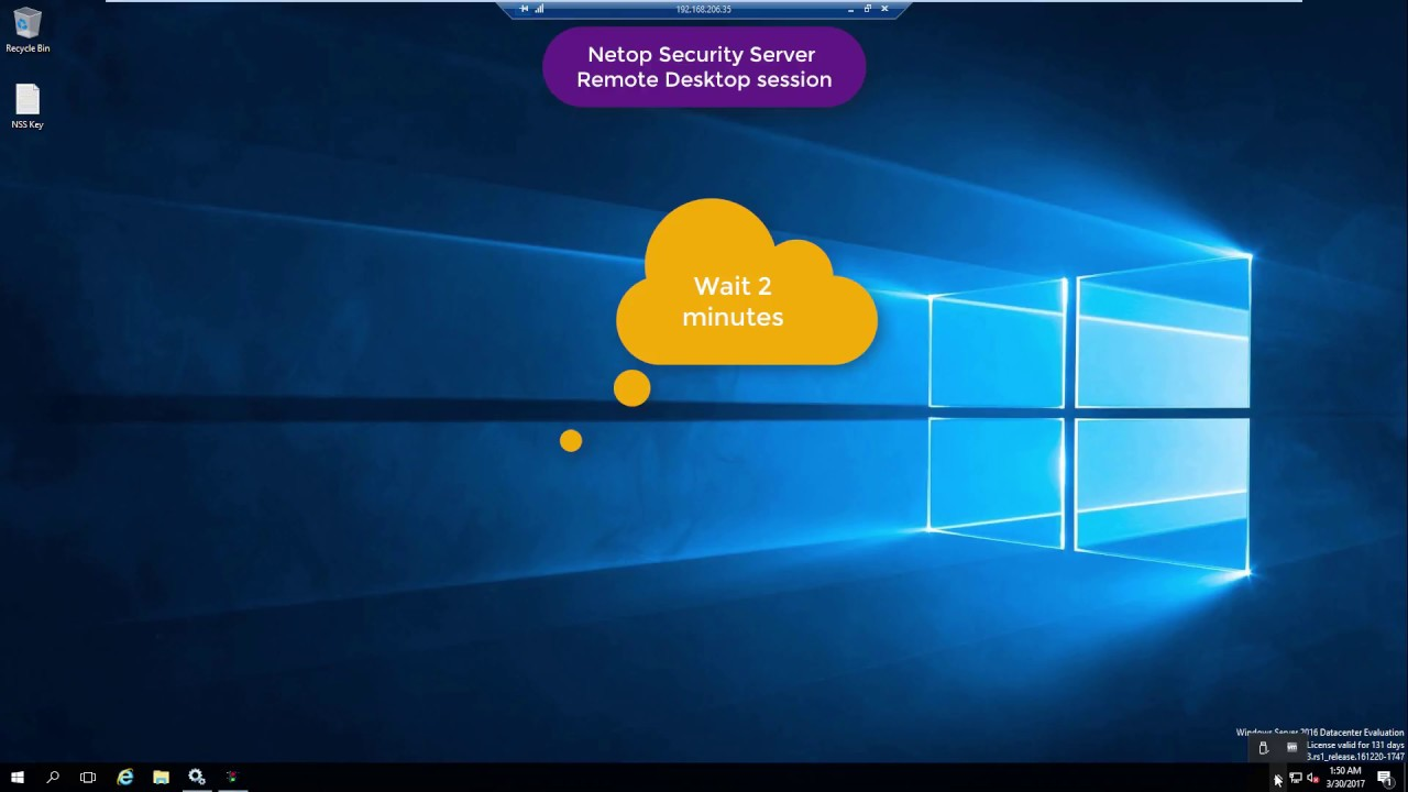 Install Netop Security Server (NSS) instances using Remote Desktop Protocol (RDP)