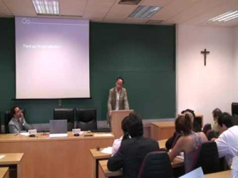 """Thomas Fuchs imparte el seminario """"Mind, Brain and..."""