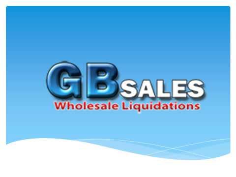 GB Sales Wholesale Liquidations