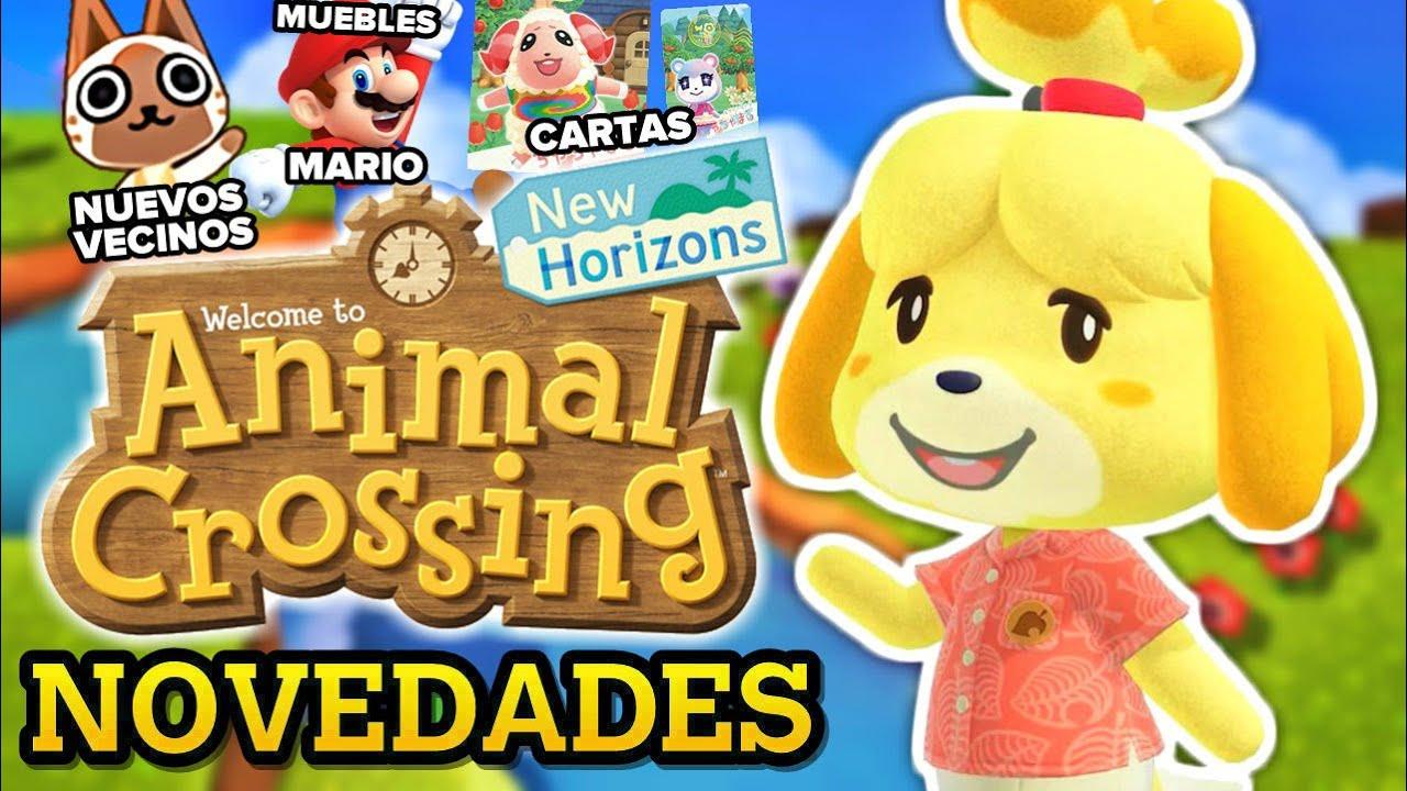 PRÓXIMAS NOVEDADES ANIMAL CROSSING NEW HORIZONS (MINI) 🌴 Nuevos vecinos, muebles Super Mario, cartas