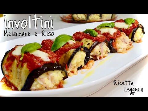 INVOLTINI DI MELANZANE E RISO Piatto Unico LEGGERO 🍚SUSHI ITALIANO 🍆 Eggplant And Rice Rolls