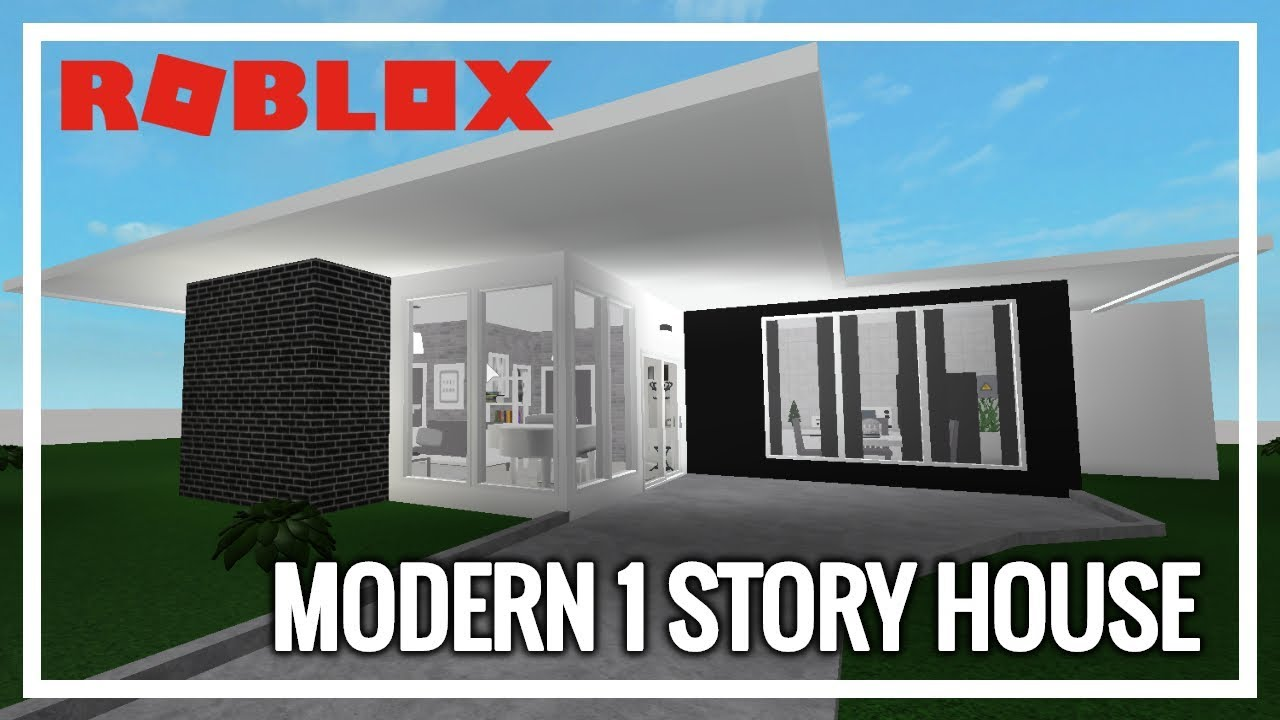 Roblox welcome to bloxburg modern 1 story house 27k
